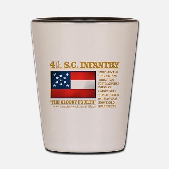 4th South Carolina Infantry Shot Glass