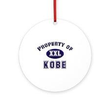 Property of kobe Ornament (Round)