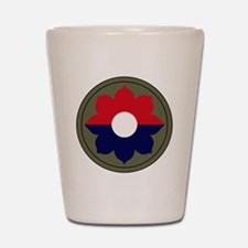 9th Infantry Division Shot Glass