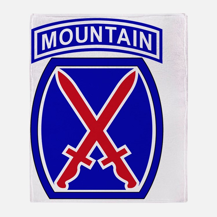 10th Infantry Division Throw Blanket