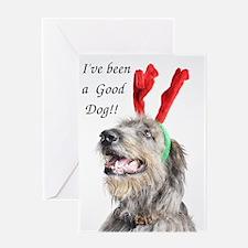 Artemis Christmas Antlers Greeting Card