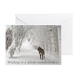 Christmas irish wolfhound Greeting Cards (10 Pack)