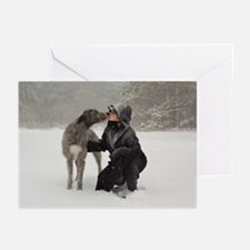 Kissing Irish Wolfhound Greeting Cards (Pk of 10)