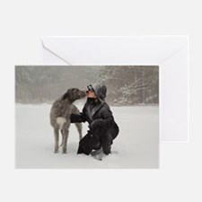 Kissing Irish Wolfhound Card Greeting Cards