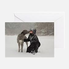 Kissing Irish Wolfhound Greeting Card