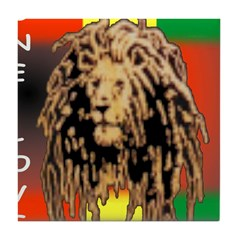 ONE LOVE LION Tile Coaster