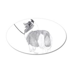 Sheltie show pose Wall Decal