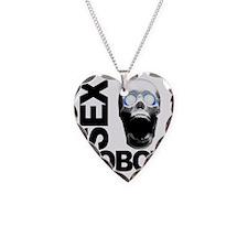 robot white Necklace