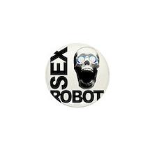 robot white Mini Button