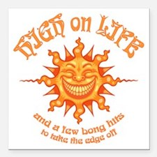 """high-on-life2-T Square Car Magnet 3"""" x 3"""""""