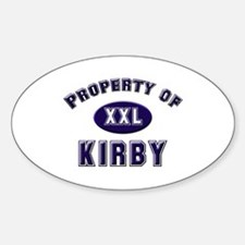 Property of kirby Oval Decal