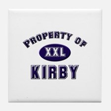 Property of kirby Tile Coaster