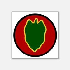 """24th Infantry Division Square Sticker 3"""" x 3"""""""