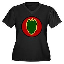 24th Infantr Women's Plus Size Dark V-Neck T-Shirt