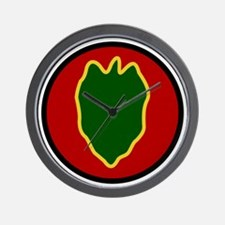 24th Infantry Division Wall Clock