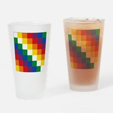 bolivia_(wiphala) Drinking Glass