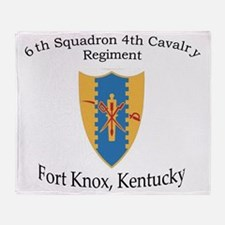 6th Squadron 4th Cavalry Throw Blanket