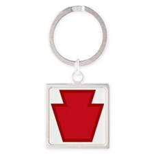 28th Infantry Division Square Keychain