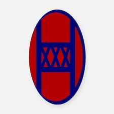 30th Infantry Division Oval Car Magnet