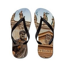 Vatican City Statues Flip Flops