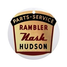 nash rambler hudson hornet Round Ornament