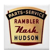 nash rambler hudson hornet Tile Coaster