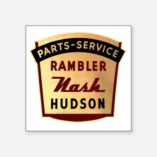 "nash rambler hudson hornet Square Sticker 3"" x 3"""