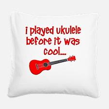funny ukulele uke ukelele Square Canvas Pillow