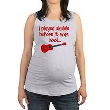 funny ukulele uke ukelele Maternity Tank Top