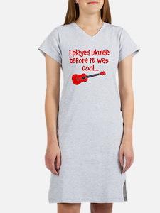 funny ukulele uke ukelele Women's Nightshirt
