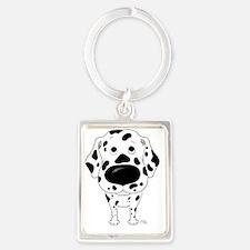 Dalmatian5x7 Portrait Keychain