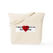 Heart on for Alisha Tote Bag