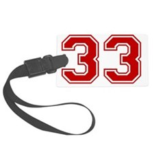 33 Red Luggage Tag