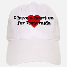 Heart on for Esmeralda Baseball Baseball Cap