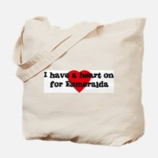 Heart on for Esmeralda Tote Bag