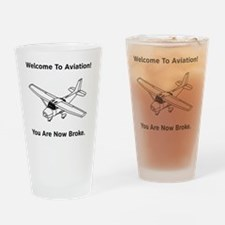 Aviation Broke Style 2 black Drinking Glass