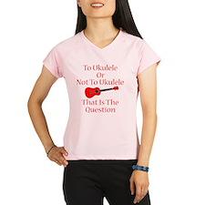 funny red ukulele musical  Performance Dry T-Shirt