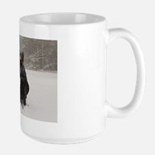 Irish Wolfhound Kissing Girl Mug