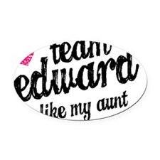 TeamEd Aunt Oval Car Magnet