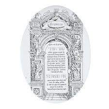 zoharBlack Oval Ornament