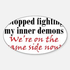 inner-demons_btle1 Sticker (Oval)