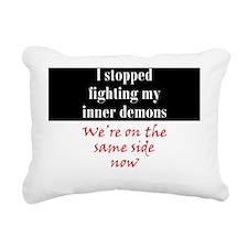 inner-demons_rnd2 Rectangular Canvas Pillow