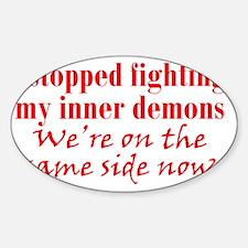 inner-demons_btle2 Sticker (Oval)