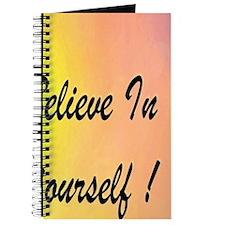 Believeinyourself rainbow  9 x 7.7 Journal