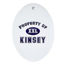 Property of kinsey Oval Ornament