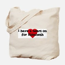 Heart on for Elizabeth Tote Bag