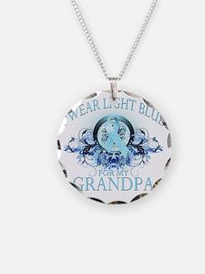 I Wear Light Blue for my Gra Necklace