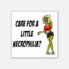 """necrophilia Square Sticker 3"""" x 3"""""""