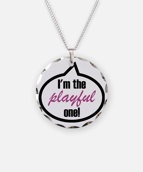Im_the_playful Necklace Circle Charm