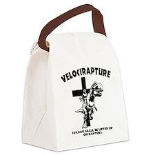 Velicirapture-tRex-LTT Canvas Lunch Bag
